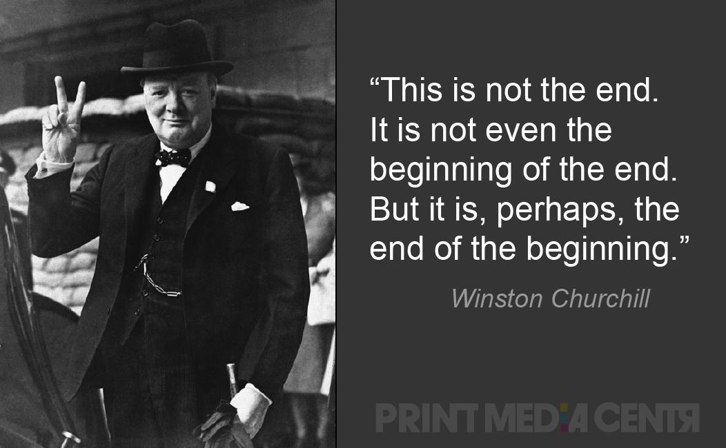 Winston Churchill fin de la citation de début